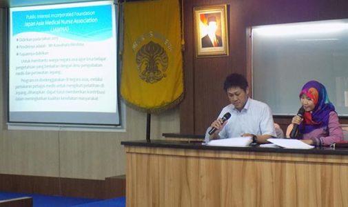 JAMNA (Japan Asia Medical Nurse Association) Scholarship Seminar di FKM UI