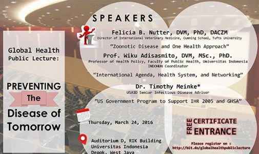 GLOBAL HEALTH PUBLIC LECTURE: PREVENTING THE DISEASES OF TOMORROW