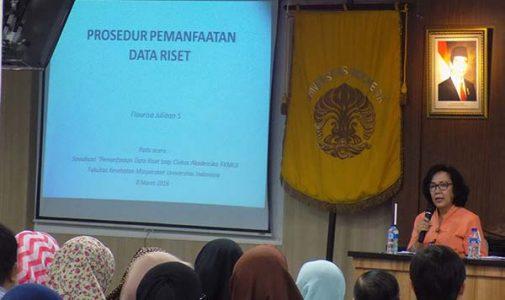 Sosialisasi Pemanfaatan Data Riset Bagi Sivitas Akademika FKM UI