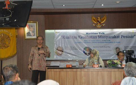 Indonesian Maritime Center UI (IMC UI) Selengarakan Maritime Talk yang Bertemakan Kualitas Kesehatan Masyarakat Pesisir.