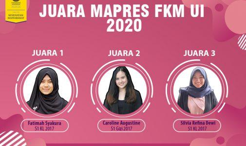 FKM UI Umumkan Juara 1 Mahasiswa Berprestasi Tingkat Fakultas Tahun 2020
