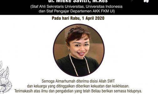 Berita Duka Cita dr. Mieke Savitri, M. Kes