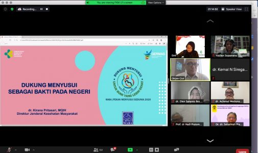 Seminar Online Seri 24 FKM UI: Healthier Planet and Challenge of Breastfeeding in the Covid-19 Pandemic