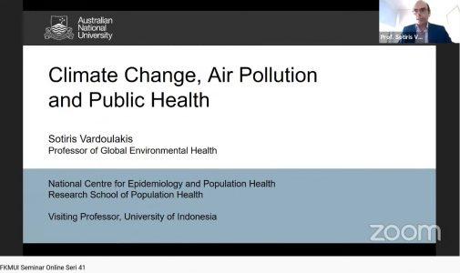 Seminar Online FKM UI Seri 41, Perubahan Iklim, Polusi Udara, dan Kesehatan Masyarakat