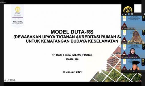 Doktor FKM UI Teliti: Model DUTA-RS (Dewasakan Upaya Tatanan Akreditasi) untuk kematangan Budaya Keselamatan