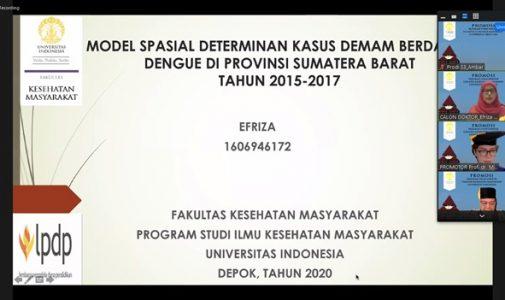 Doktor FKM UI Teliti: Model Spasial Determinan Kasus Demam Berdarah Dengue di Provinsi Sumatera Barat Tahun 2015-2017