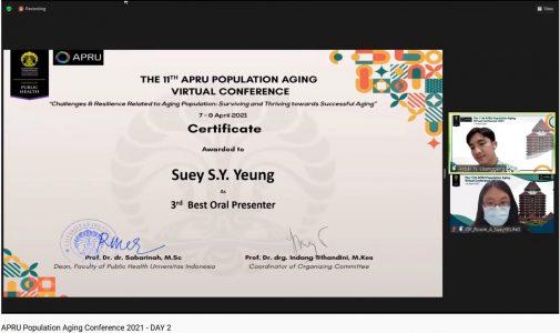 FKM UI Berikan Berbagai Penghargaan Pada Peserta The 11th APRU Population Aging Virtual Conference 2021