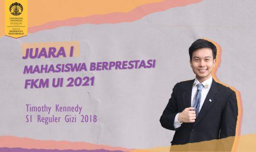 Mahasiswa S1 Gizi Menjadi Pemenang MAPRES FKM UI 2021
