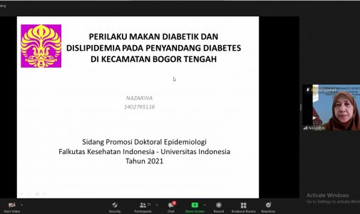 Doktor FKM UI Teliti: Perilaku Makan Diabetik dan Dislipidemia pada Penyandang Diabetes di Kecamatan Bogor Tengah