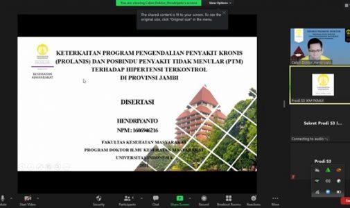 Doktor FKM UI Teliti: Keterkaitan Program Prolanis dan Posbindu PTM terhadap hipertensi terkontrol di Provinsi Jambi