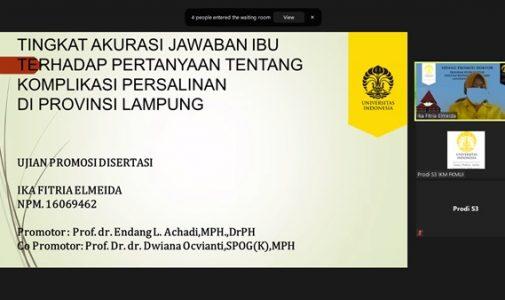 Doktor FKM UI Teliti: Tingkat Akurasi Jawaban Ibu terhadap Pertanyaan tentang Komplikasi Persalinan di Provinsi Lampung