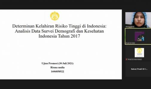 Doktor FKM UI Teliti: Determinan Kelahiran Risiko Tinggi di Indonesia: Analisis Data Survei Demografi dan Kesehatan Indonesia Tahun 2017