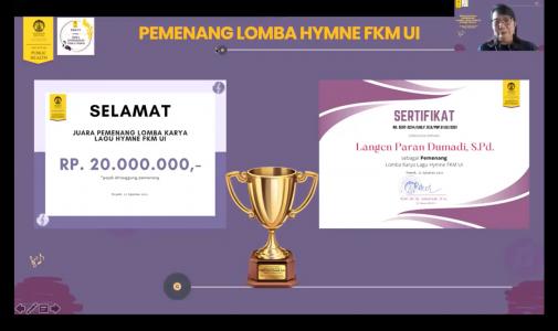 FKM UI Umumkan Pemenang Lomba Karya Lagu Mars dan Hymne FKM UI
