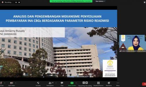 Doktor FKM UI Teliti: Analisis dan Pengembangan Mekanisme Penyesuaian Pembayaran INA CBGs Berdasarkan Parameter Risiko Readmisi