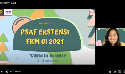 Pengenalan Sistem Akademik Fakultas (PSAF) Ekstensi FKM UI Tahun 2021, Strength in Unity